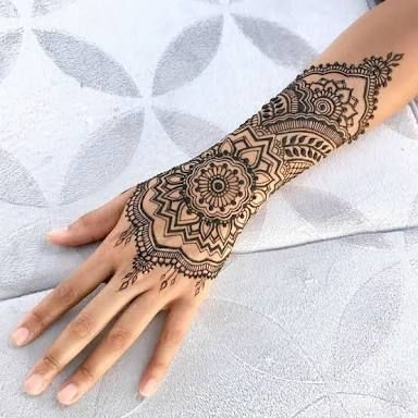 Image result for henna inspired tattoo wrist