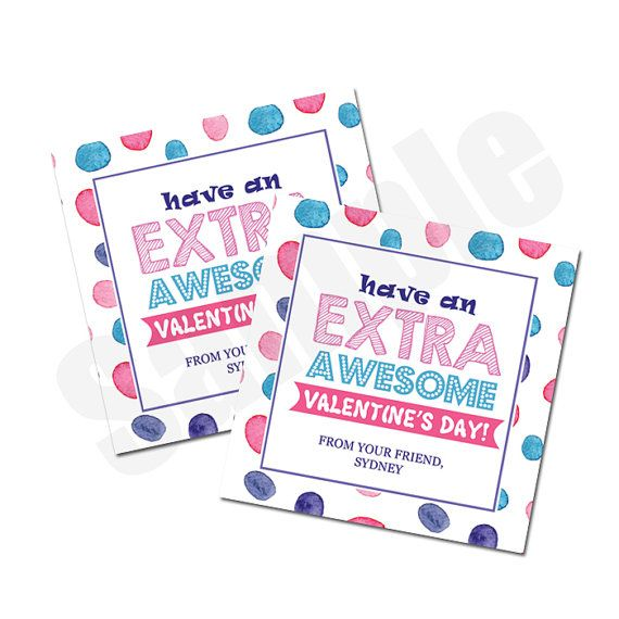 extra gum valentine u0026 39 s day card or tag editable pdf instant