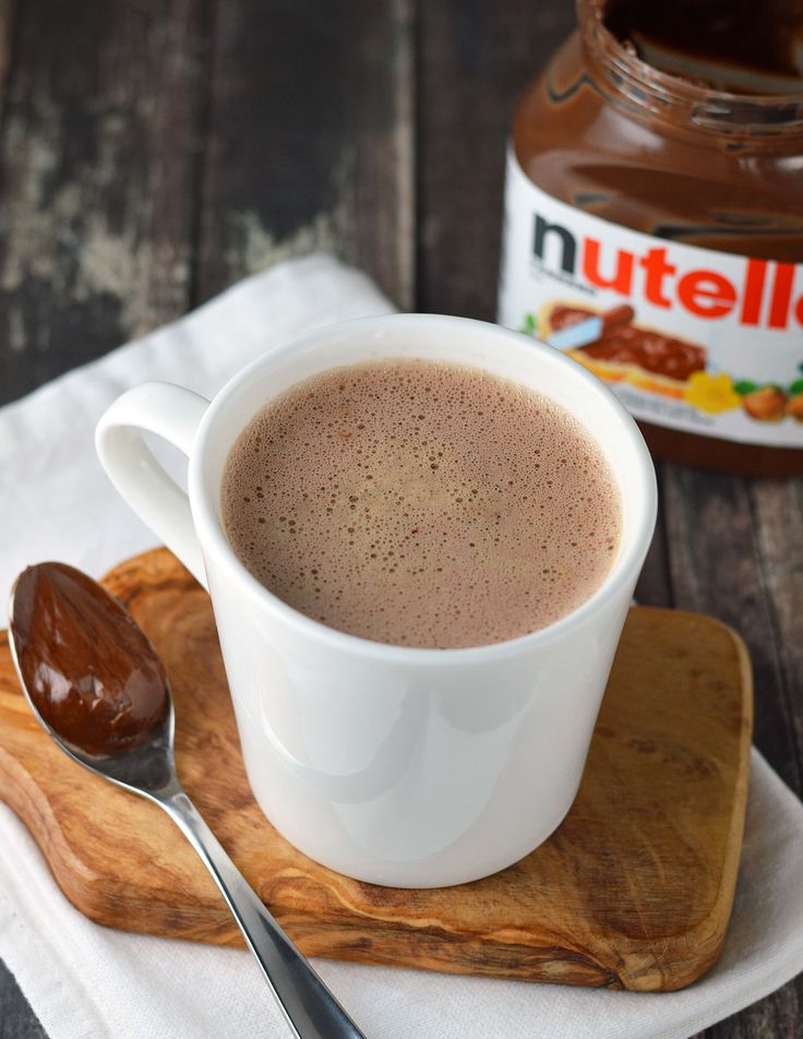 Nutella Latte. It's so easy to make Nutella Lattes at home with only three ingredients!