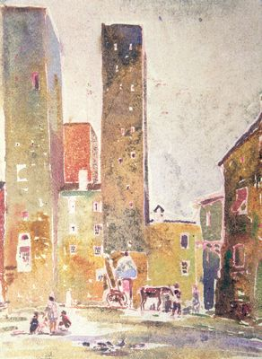 Louis Kahn travel sketch
