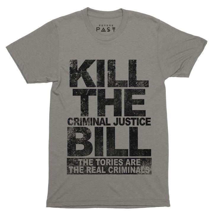 Kill The Criminal Justice Bill T-Shirt / Grey  #rave #disco #studio54 #raver #techno #ibiza #chicagohouse #acid #housenation #hacienda