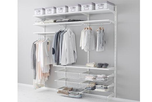 Rangements ouvert pour v tements et chaussures bedroom pinterest dressi - Ikea rangement chaussures dressing ...