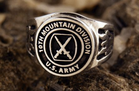 US Army, 10th Mountain Division, ring