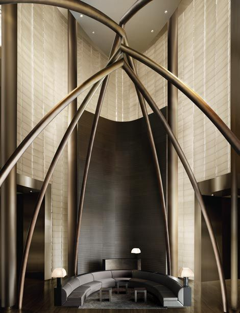 Armani hotel, Dubai  Triple height lobby