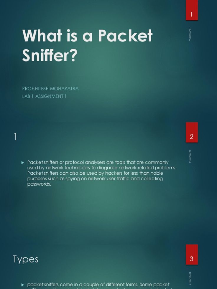 I'm reading What is a Packet Sniffer ? on Scribd