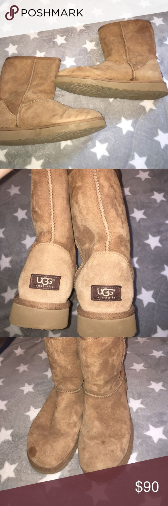 classic short ugg boots Brown and cream for classic short UGG boots UGG Shoes Ankle Boots & Booties