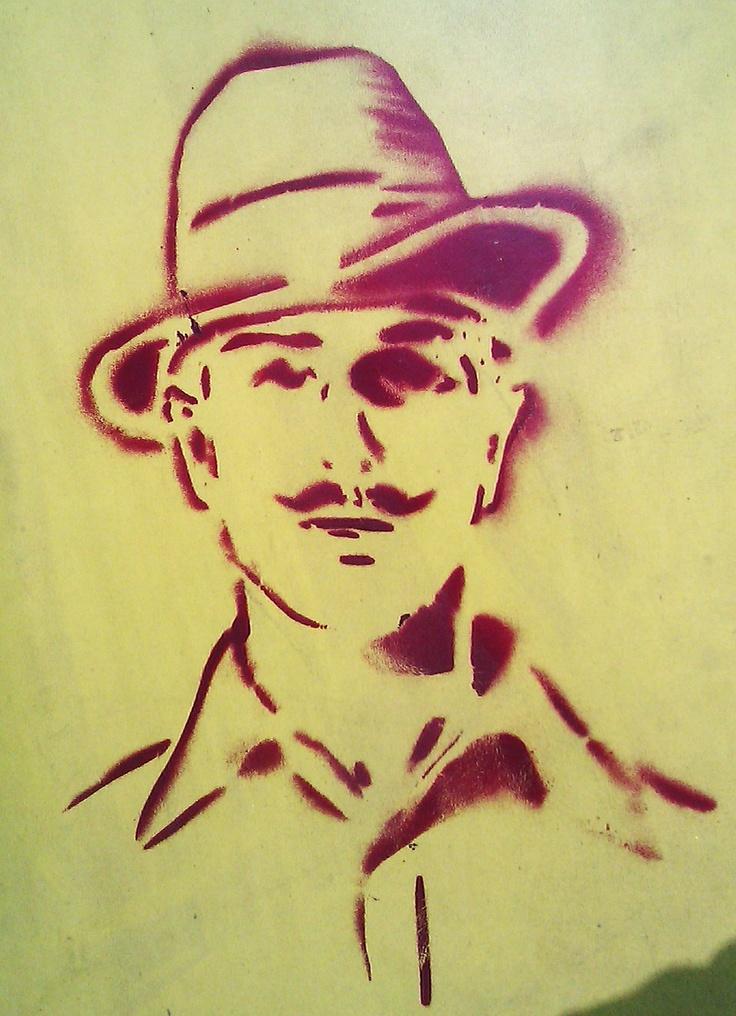 Stencil art. Bhagat Singh