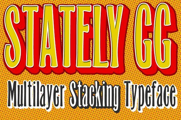 Stately GG Stacking Typeface by Baseline Fonts on @creativemarket