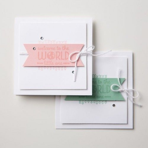 Sweet Lil One Stampin Up StampinUp Stamping StampingUp Mary Fish Stampin Pretty