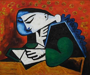 Girl Reading Oil Painting by Pablo Picasso