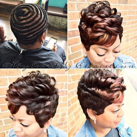 |TRANSFORMATION TUESDAY| Love this #pixiecut ✂️ #wig install styled by…