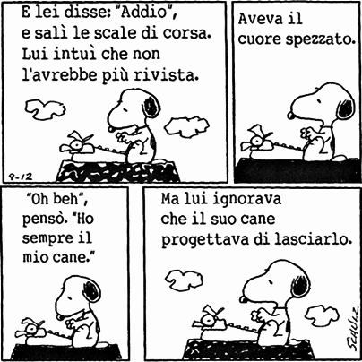 Snoopy always always has a lesson about life to teach..