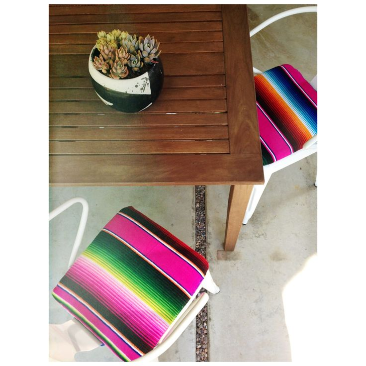 My new outdoor chairs and custom seat pads!! @Amber Interiors