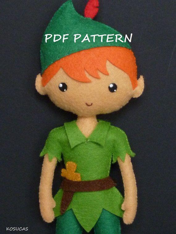 PDF pattern to make a felt Peter Pan.