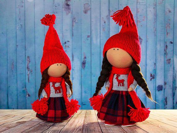 Doll Catherine. Tilda doll. Textile doll. Scandinavian by OwlsUa