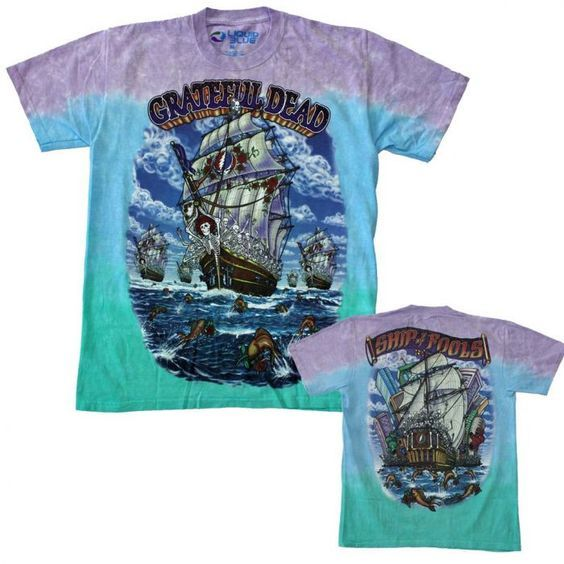 Grateful Dead Ship of Fools T-Shirt- ONLINE ONLY-#1lt2f #1lt2fskateshop #fashion #skateboarding #skateboard #longboarding #mensfashion #womensfashion #fashion #apparel #skatedecks #toys #games #dccomics #marvel #music