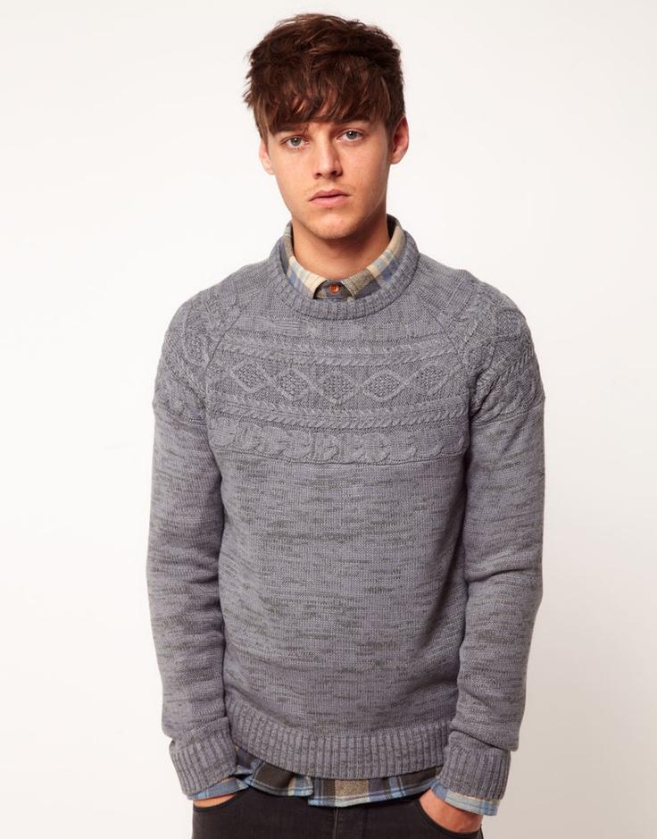 Мужские свитеры Asos Cable Knit Sweater