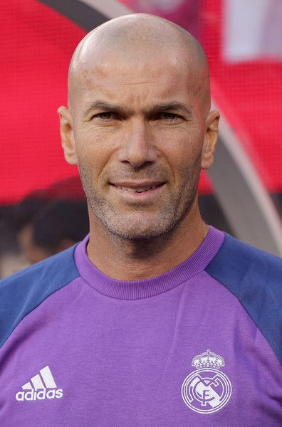 Zinedine Zidane Photos Photos - Team coach Zinedine Zidane of Real Madrid is pictured before during the International Champions Cup match between FC Bayern Muenchen and Real Madrid CF at MetLife Stadium on August 3, 2016 in East Rutherford, United States. - International Champions Cup 2016 - Bayern Munich v Real Madrid