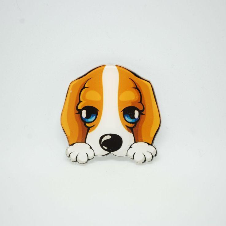 Купить Акриловый значок для одежды Бассет-хаунд в интернет магазине аксессуаров OTOKODESIGN