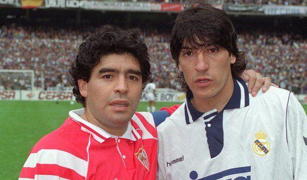 Diego Armando Maradona e Iván Zamorano (Argentina - Chile).
