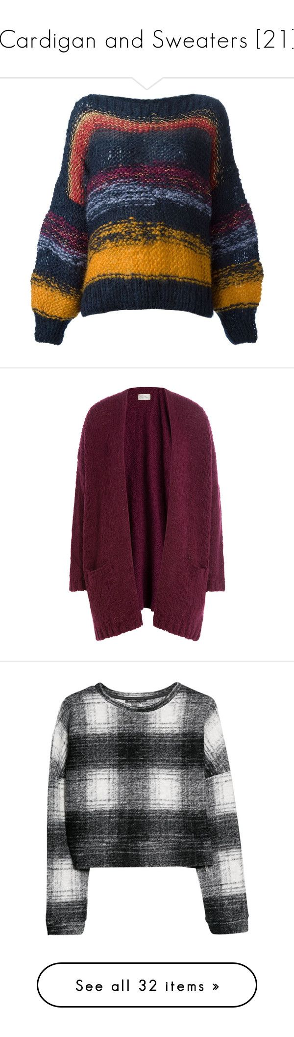 """""""Cardigan and Sweaters [21]"""" by gdavilla ❤ liked on Polyvore featuring tops, sweaters, jumpers, striped sweater, oversized striped sweater, blue knit sweater, striped knit sweater, knit sweater, cardigans and purple"""