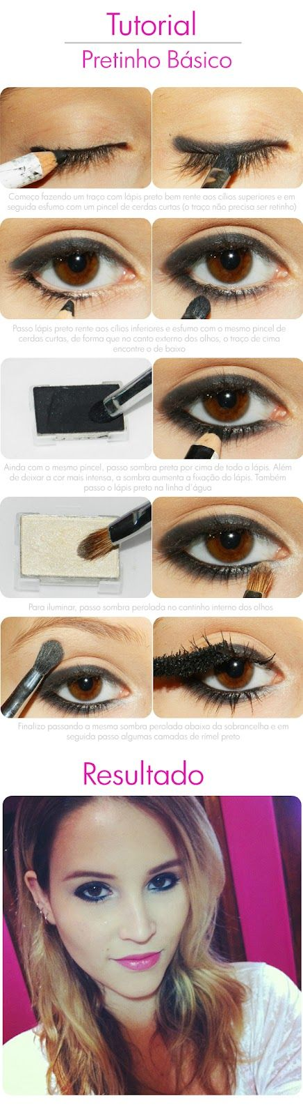 Cute for a casual date or you could spice it up with a smokey eyeshadow for a sexy night look. Eyeshadow on top of eyeliner makes the eyeliner stay put longer! Also a bit of Urban Decay primer wouldn't hurt either! ;)