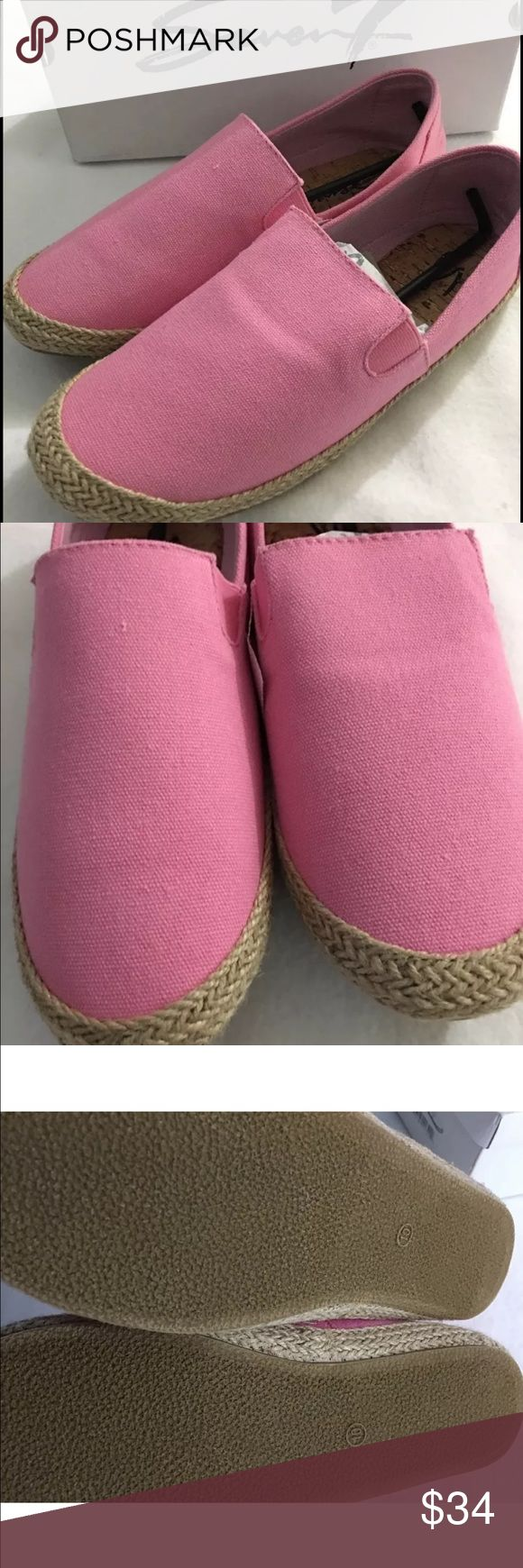 Seven7 Cape Code Espadrille Flats Slip On Shoes 10 Seven7 Cape Cod Canvas Espadrille Deck Shoes - Womens 10 - Bubblegum Pink with nonslip soles and jute rope trim - comfortable slip on - New in box Seven7 Shoes Flats & Loafers