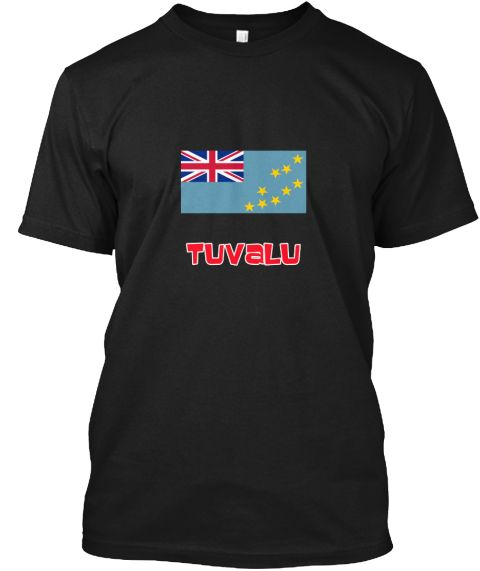 Tuvalu Flag Retro Red Design Black T-Shirt Front - This is the perfect gift for someone who loves Tuvalu. Thank you for visiting my page (Related terms: I Heart Tuvalu,Tuvalu,Tuvaluan,Tuvalu Travel,I Love My Country,Tuvalu Flag, Tuvalu Map,Tuvalu Langua #Tuvalu, #Tuvalushirts...)