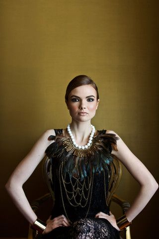 Couture / Luxe Tribal Feather Neckpiece - Silk&Steel