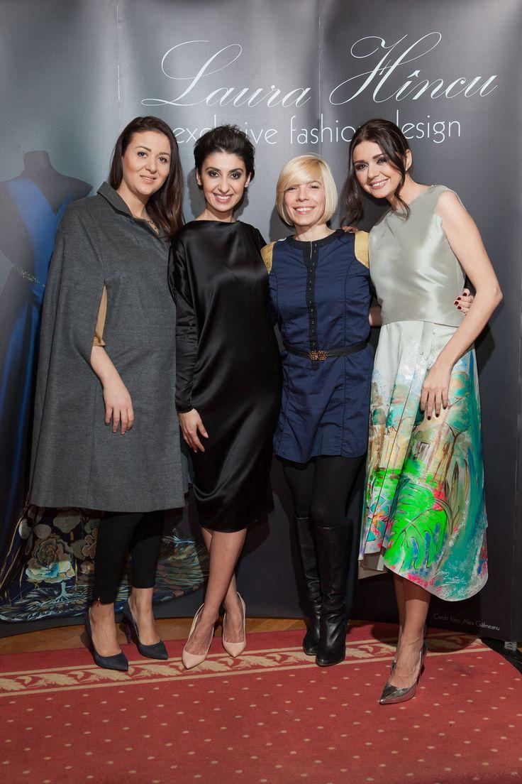 Laura Hîncu painted dress - Albertina Ionescu, Maria Radu, Laura Hîncu, Ioana Ionescu