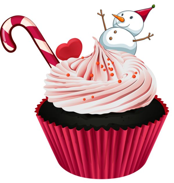 Clipart Christmas Cake Images : 163 best images about Cuppy Cakes Clipart on Pinterest ...