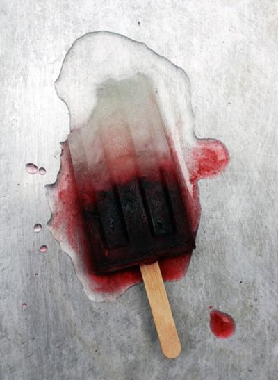 Blackberry Bramble boozy popsicle