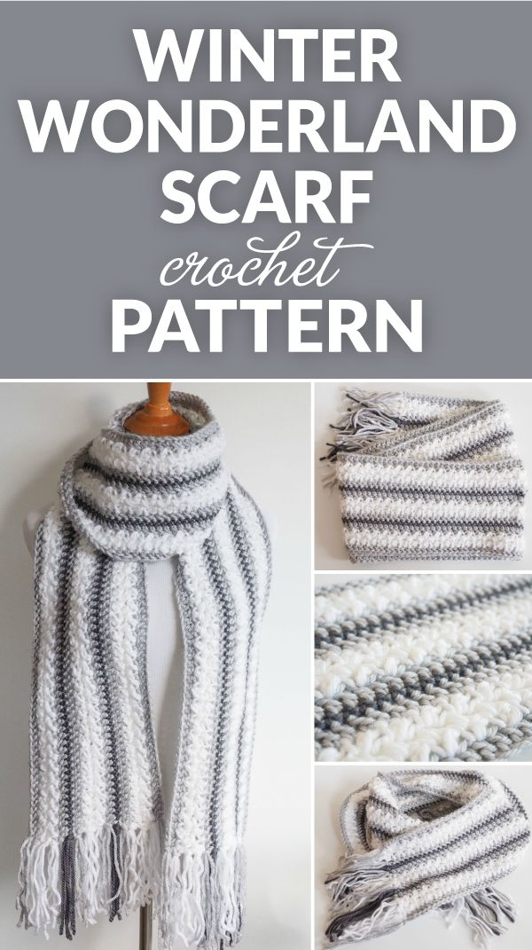 Winter Wonderland Crochet Scarf Pattern | Crochet Scarfs/Neckwarmers ...