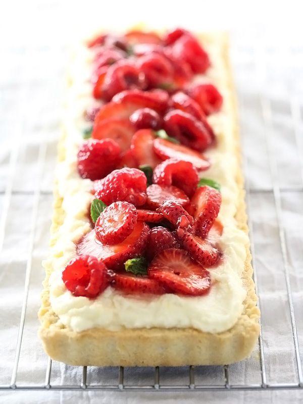 Berry Tart with Lemon Curd Mascarpone foodiecrush.com