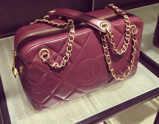 531bdb97bee0 Chanel Camera Bag in Burgundy