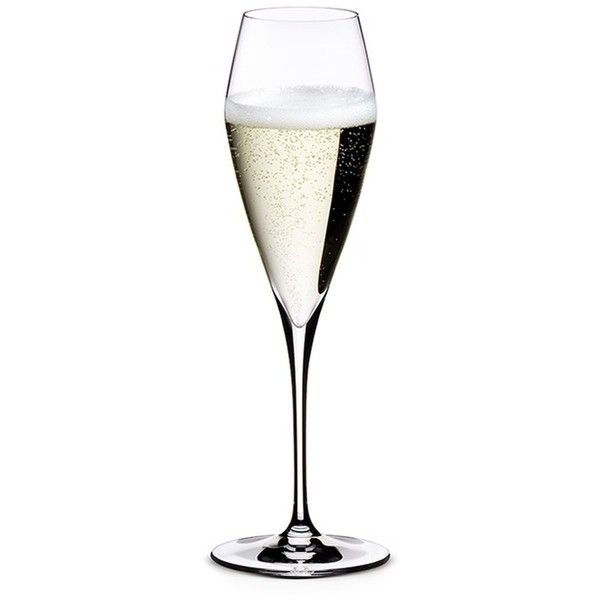 Riedel Vitis champagne flute found on Polyvore featuring home, kitchen & dining, drinkware, kitchen, colored crystal champagne flutes, riedel, colored champagne flutes, crystal drinkware and riedel champagne glasses