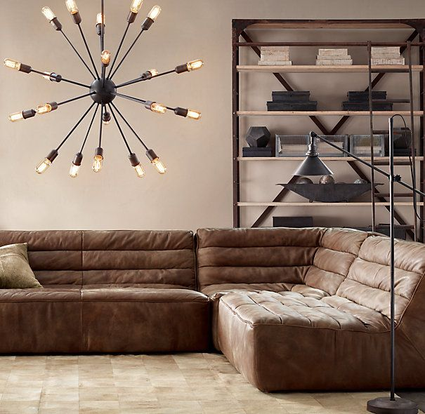 Chelsea leather sofa, Restoration Hardware