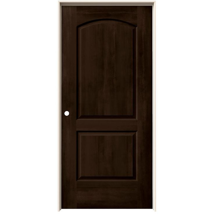 JELD-WEN 36 in. x 80 in. Woodview Espresso (Brown) Stained 2 Panel Arch Hollow Core Composite Single Prehung Interior Door