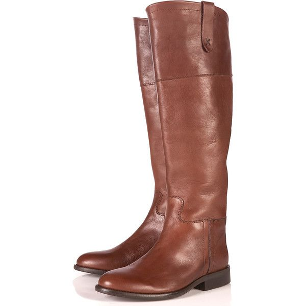 Prince2 Classic Riding Boots (340 BRL) ❤ liked on Polyvore featuring shoes, boots, botas, shoes - boots, chaussures, women, tan boots, real leather boots, leather equestrian boots and tan knee high boots