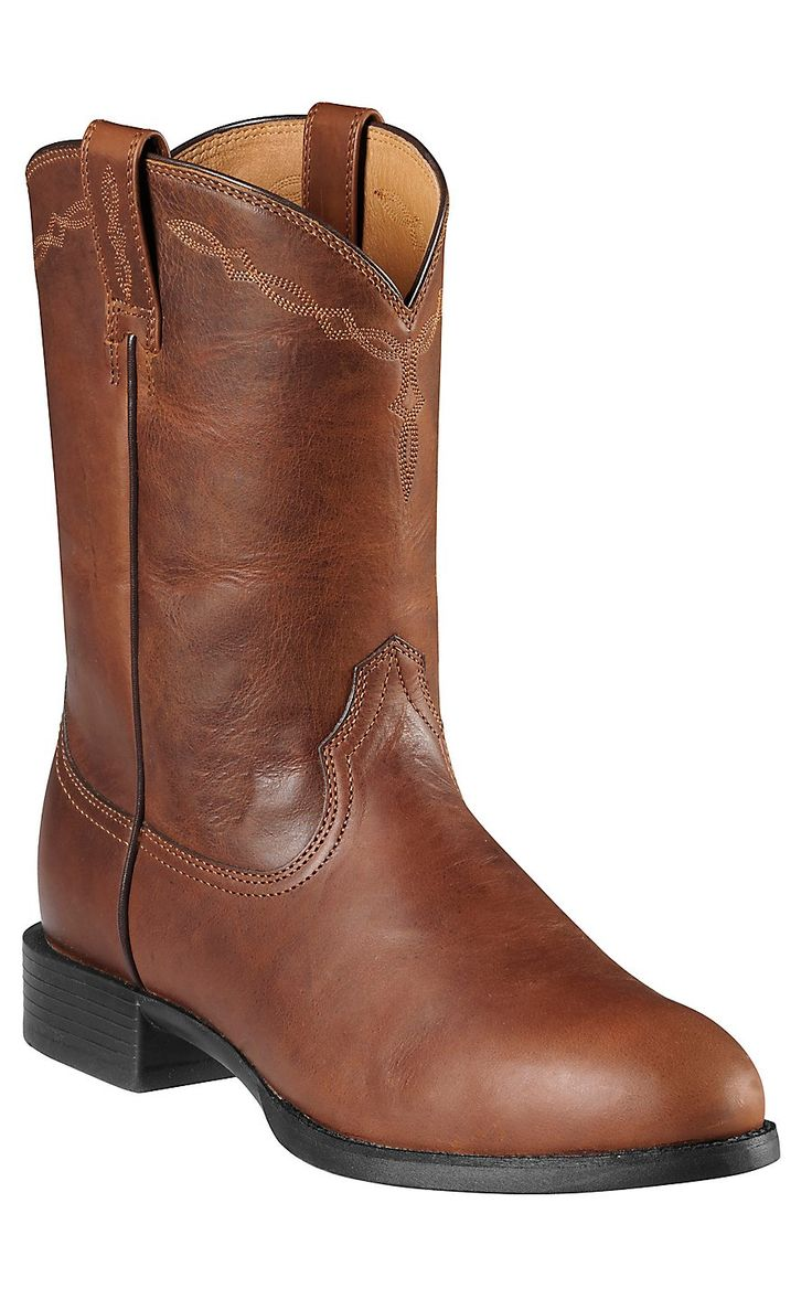 Ariat® Heritage™ Men's Mission Brown Cowboy Roper Boots