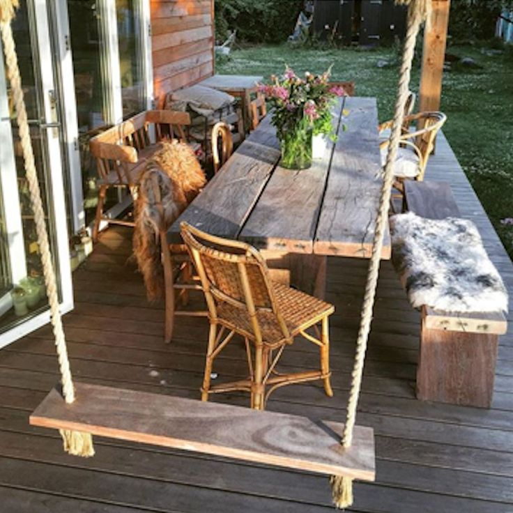 THORS Gaia rustic long table. The table is made from reclaimed wood from danish harbours and is ideal for outdoor use all year round #outdoordining #outdoorfurniture #woodentable #rustictable #danishdesign