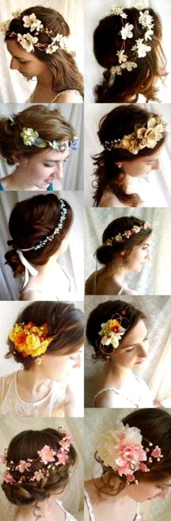 Bride's various chignon bridal hair ideas Toni Kami Wedding Hairstyles ♥ ❶ With flower crowns corona halo