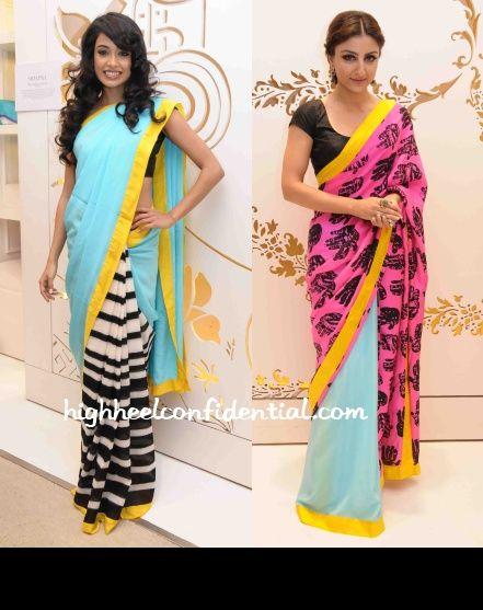 Love these mo-dern saris!!