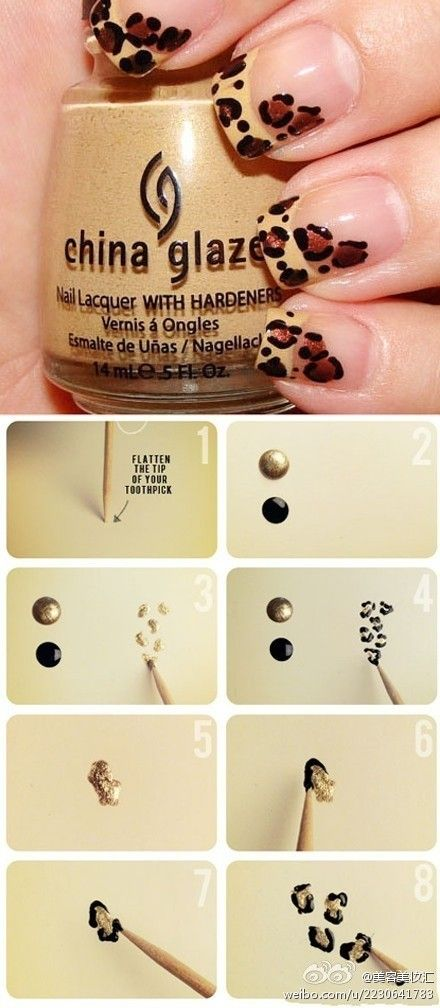 Cheetah nails how-to. Will someone with a steady hand please help me do this!