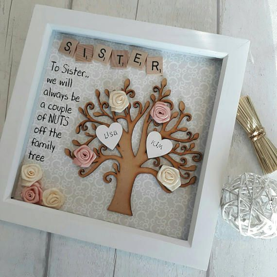 Gift For Sister Gift For Family Family Tree Frame Personalised