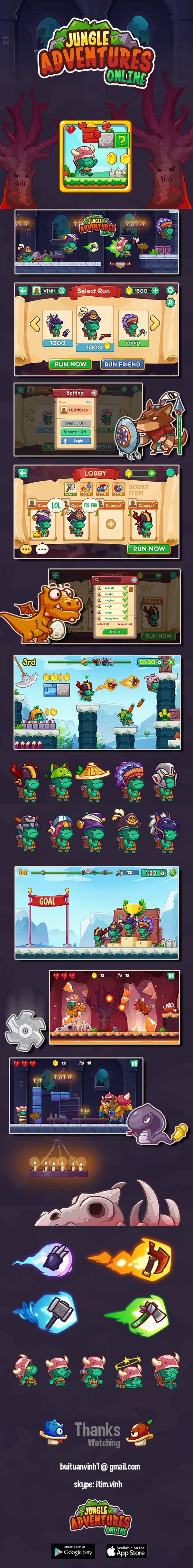 This is my project i made when i worked in fatcat teamGameplay similar mario bros with funny graphics and colorfulThis game available in google storehttps://play.google.com/store/apps/details?id=com.foxgames.jungle.adventuresHope you enjoy it