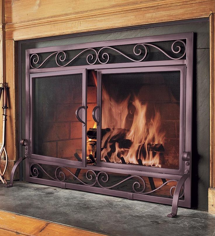 Plow And Hearth Iron Fireplace Screens Pinterest