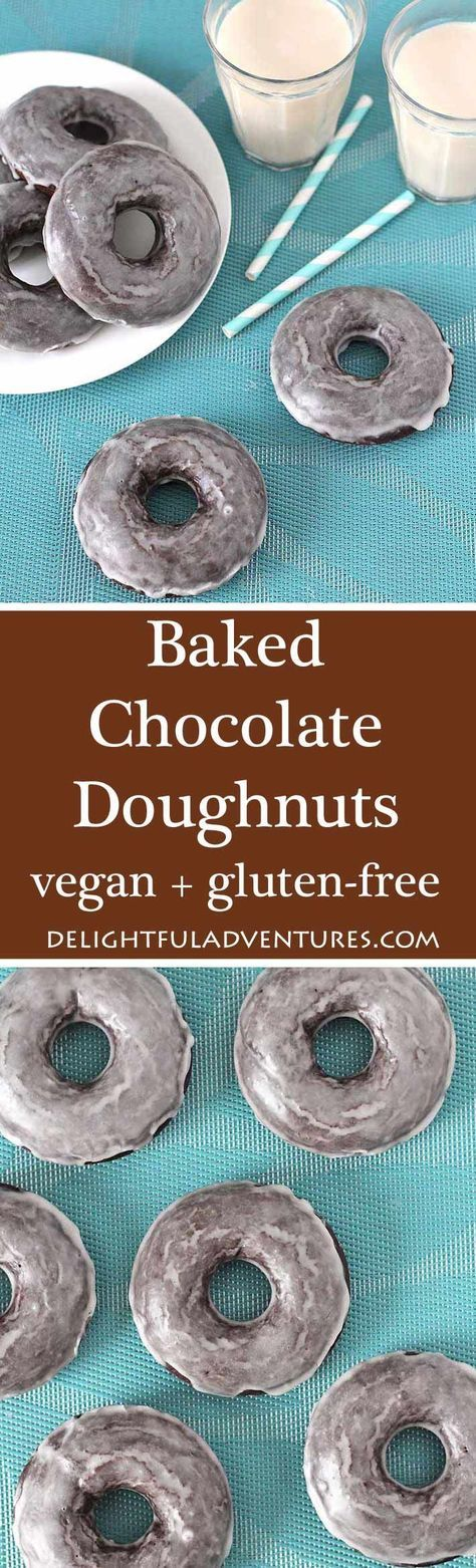 Looking for Vegan Gluten Free Baked Chocolate Doughnuts? Your search has ended. This recipe makes perfectly soft, chocolaty, sweet doughnuts you'll love! via /delightfuladv/