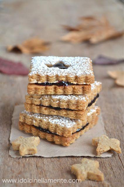 I dolci nella mente: La calda atmosfera dell' autunno: Biscotti Linzer.....e benvenuto Ottobre!!