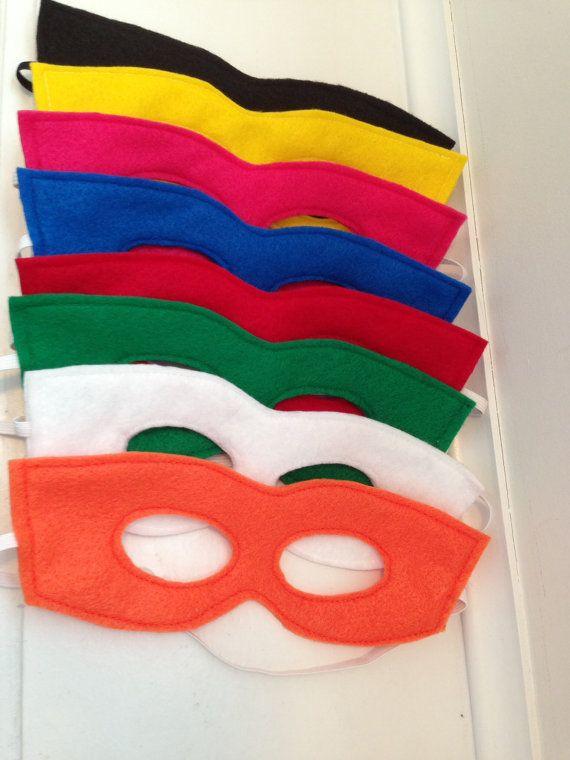 Super Hero Birthday Party Idea! Felt Mask Super Hero Dress Up Set of 10 by EenieMeenieMinieMo, $20.00